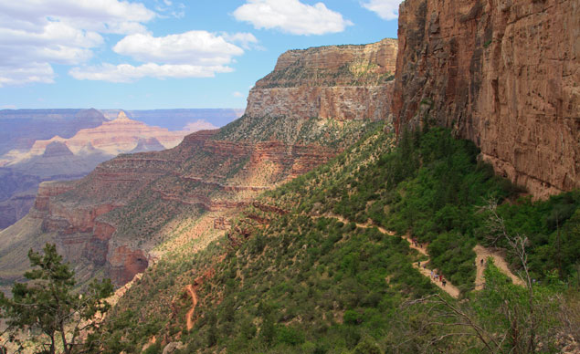 The Grand Canyon's Bright Angel Trail
