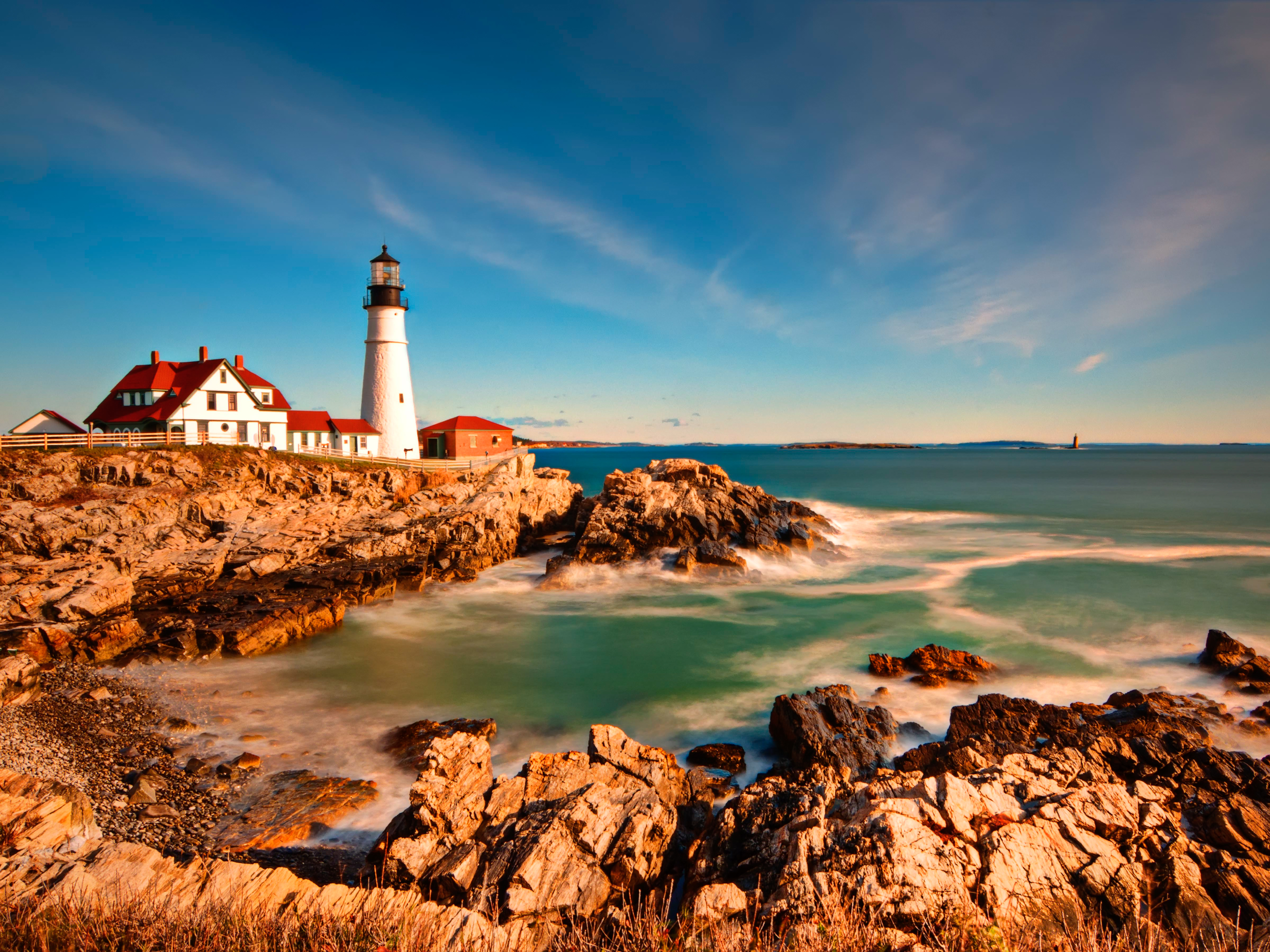 An Iconic Lighthouse In Portland Maine