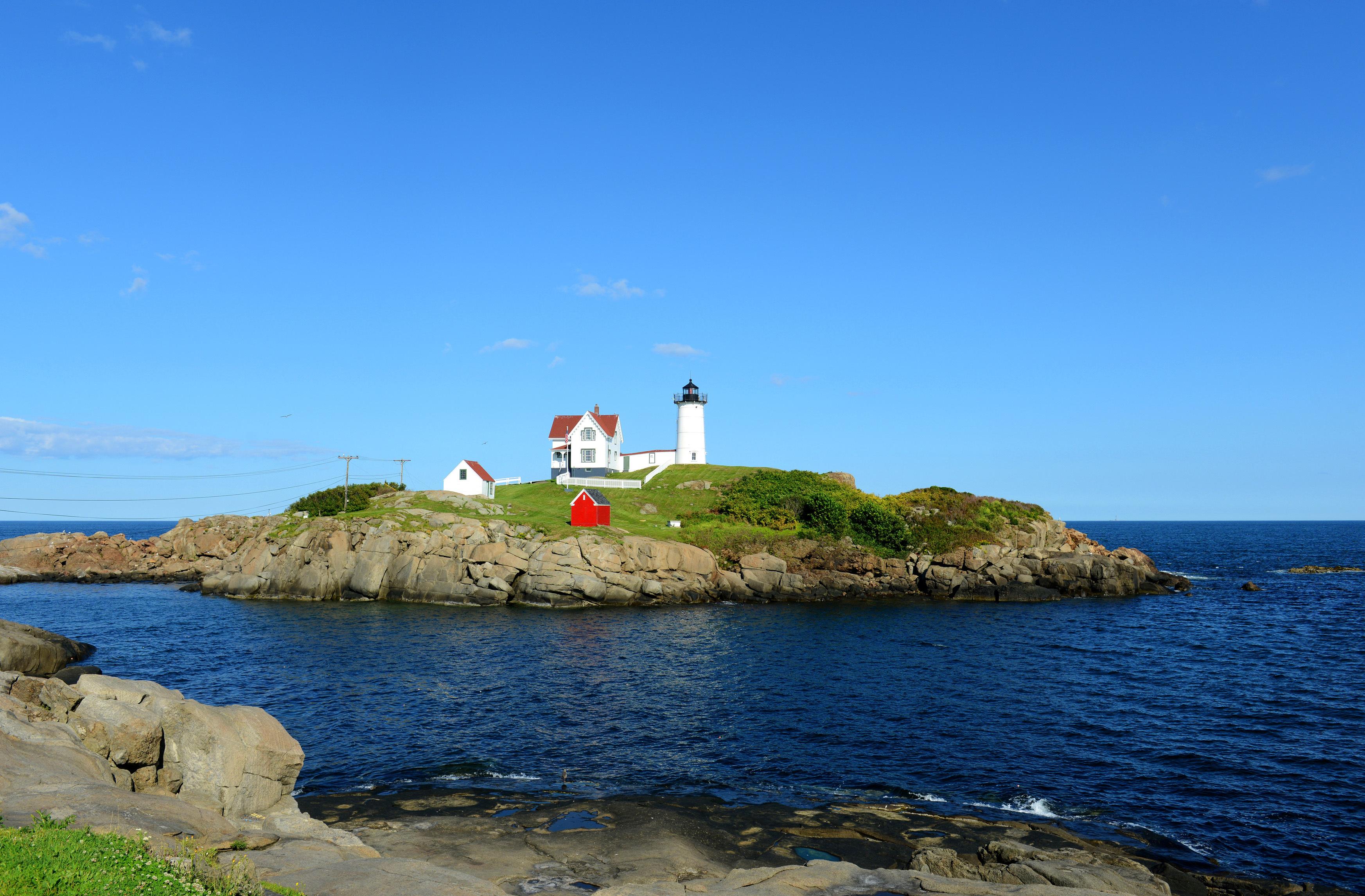Maine's Cape Neddick Nubble lighthouse, Maine