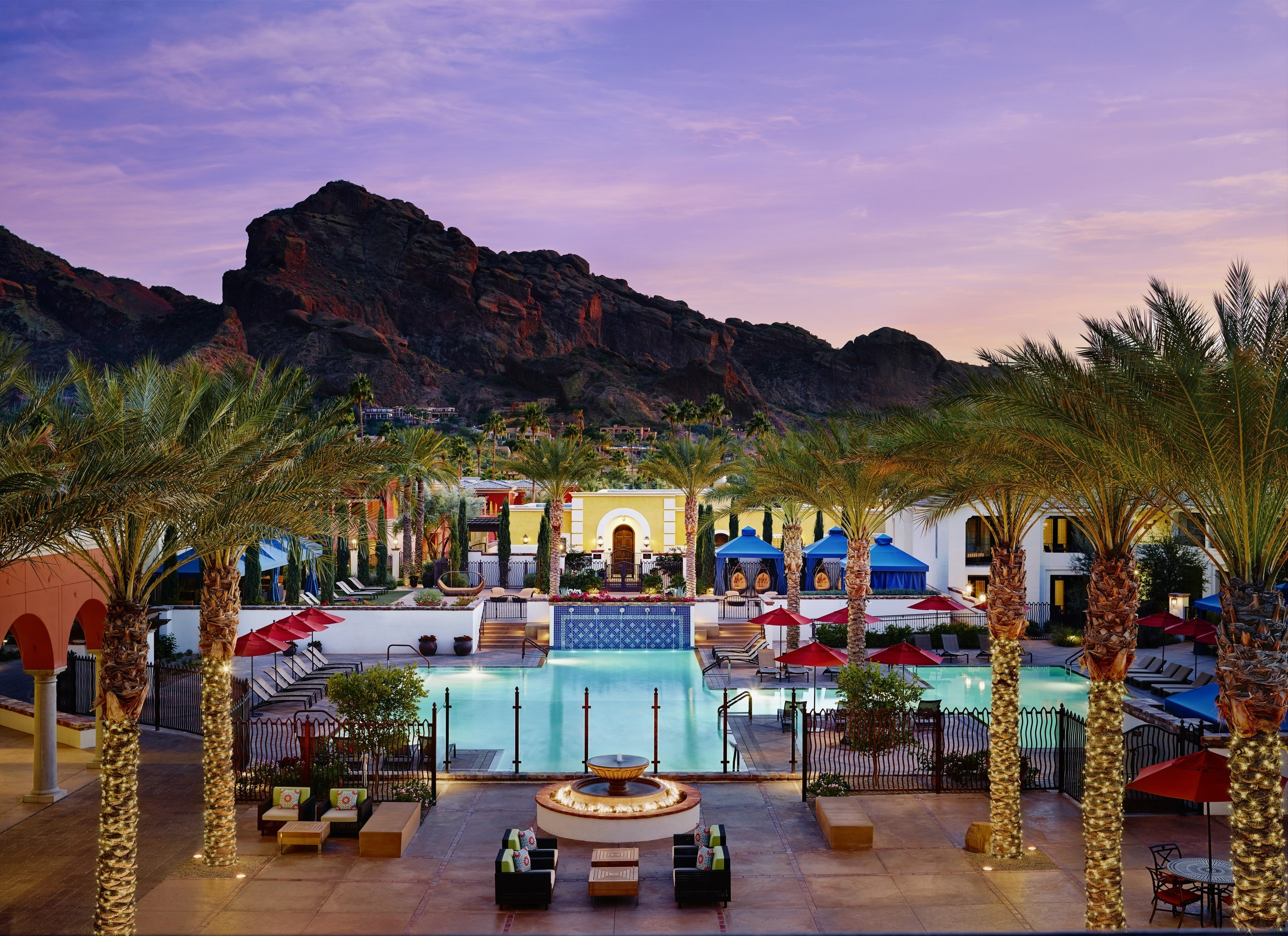 Hero Sunset Omni Scottsdale Resort Spa At Montelucia