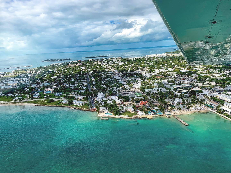 Birds eye view of Key West