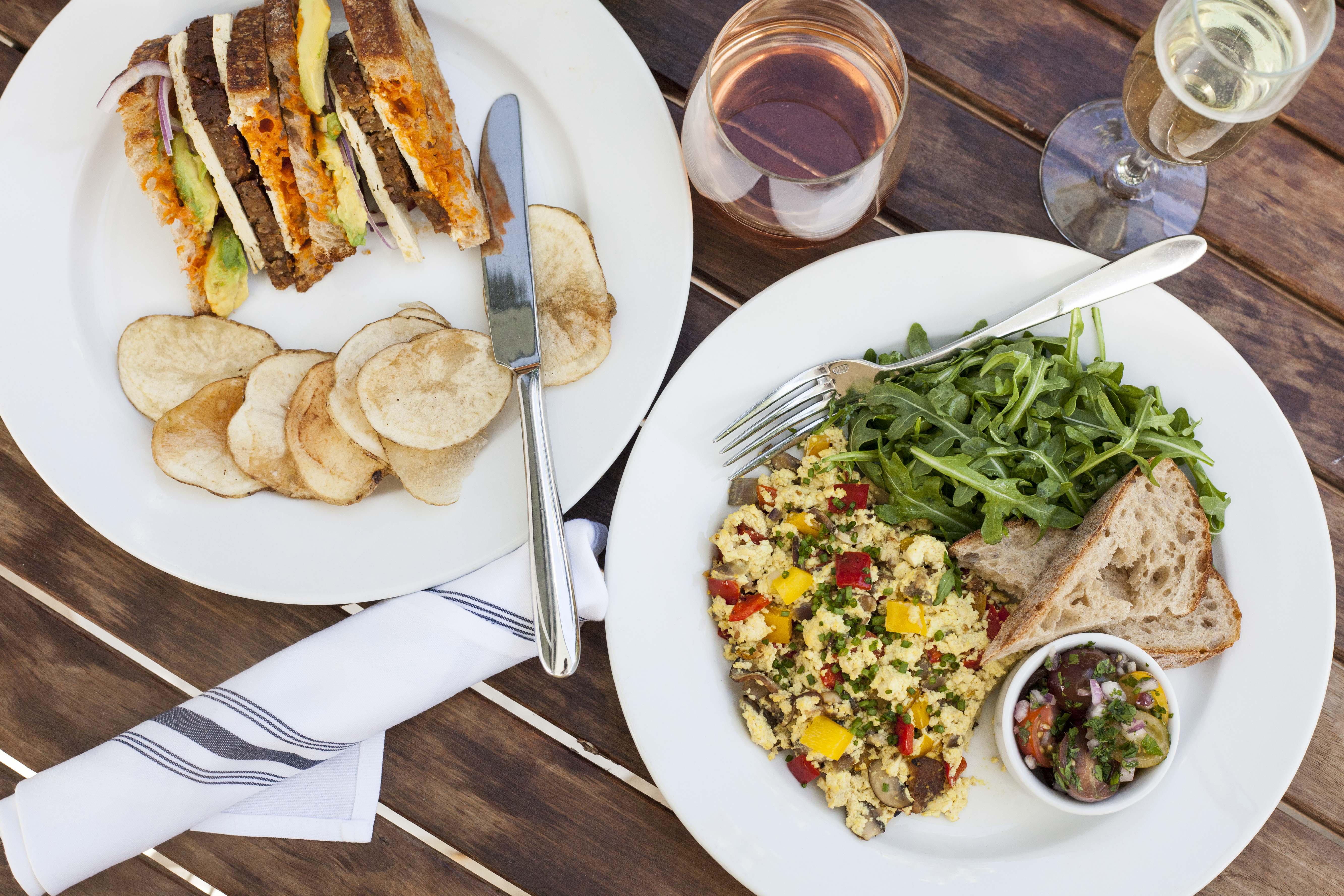 Little Pine Vegetarian Restaurant Los Angeles Breakfast sandwich