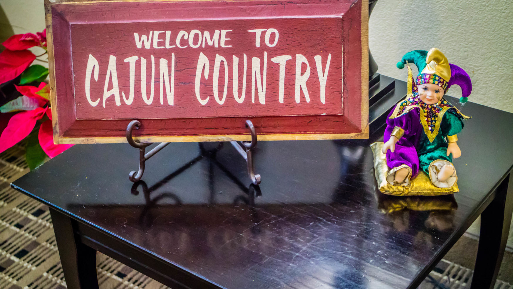 Welcome to cajun country sign