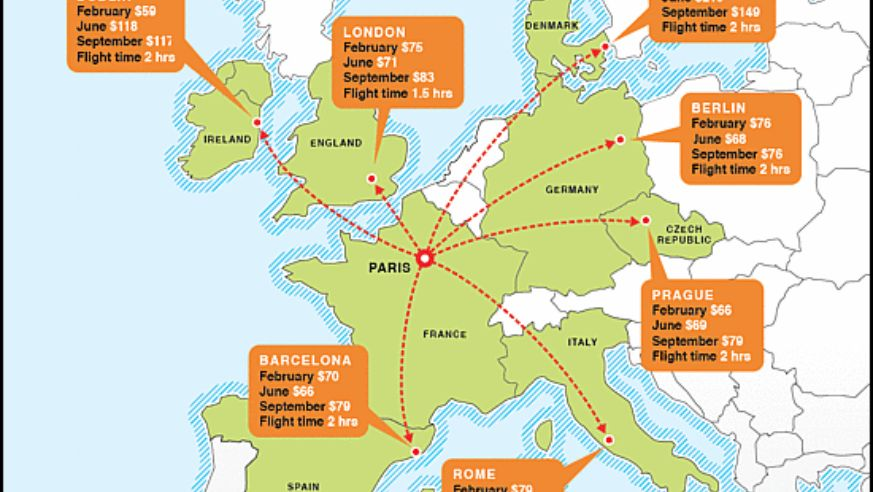 Paris On Map Of Europe.Europe Make It A Multicity Trip Budget Travel
