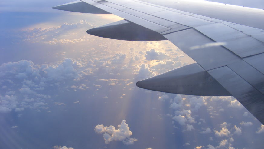 view out the airplane window - Cheap Christmas Flights