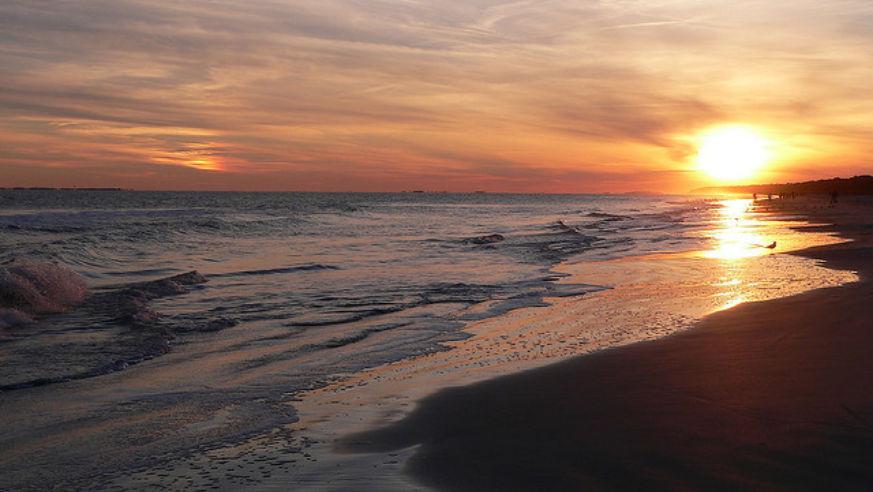 Sunset On The Beach In Hilton Head Island South Carolina