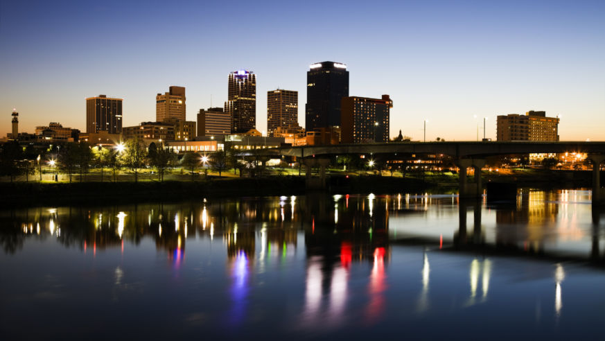 Blue hour, Little Rock, Arkansas