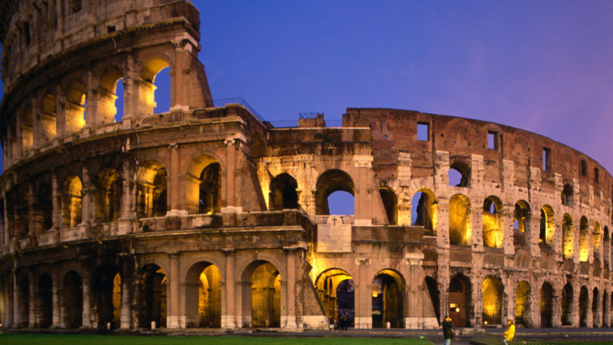 Secret hotels of rome from 75 budget travel colosseum at night sciox Gallery
