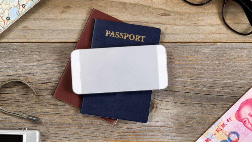 passport and phone