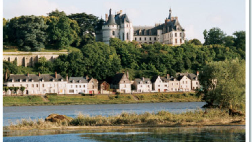 A 15th Century Castle Rising Over The Loire River In Chaumont Sur