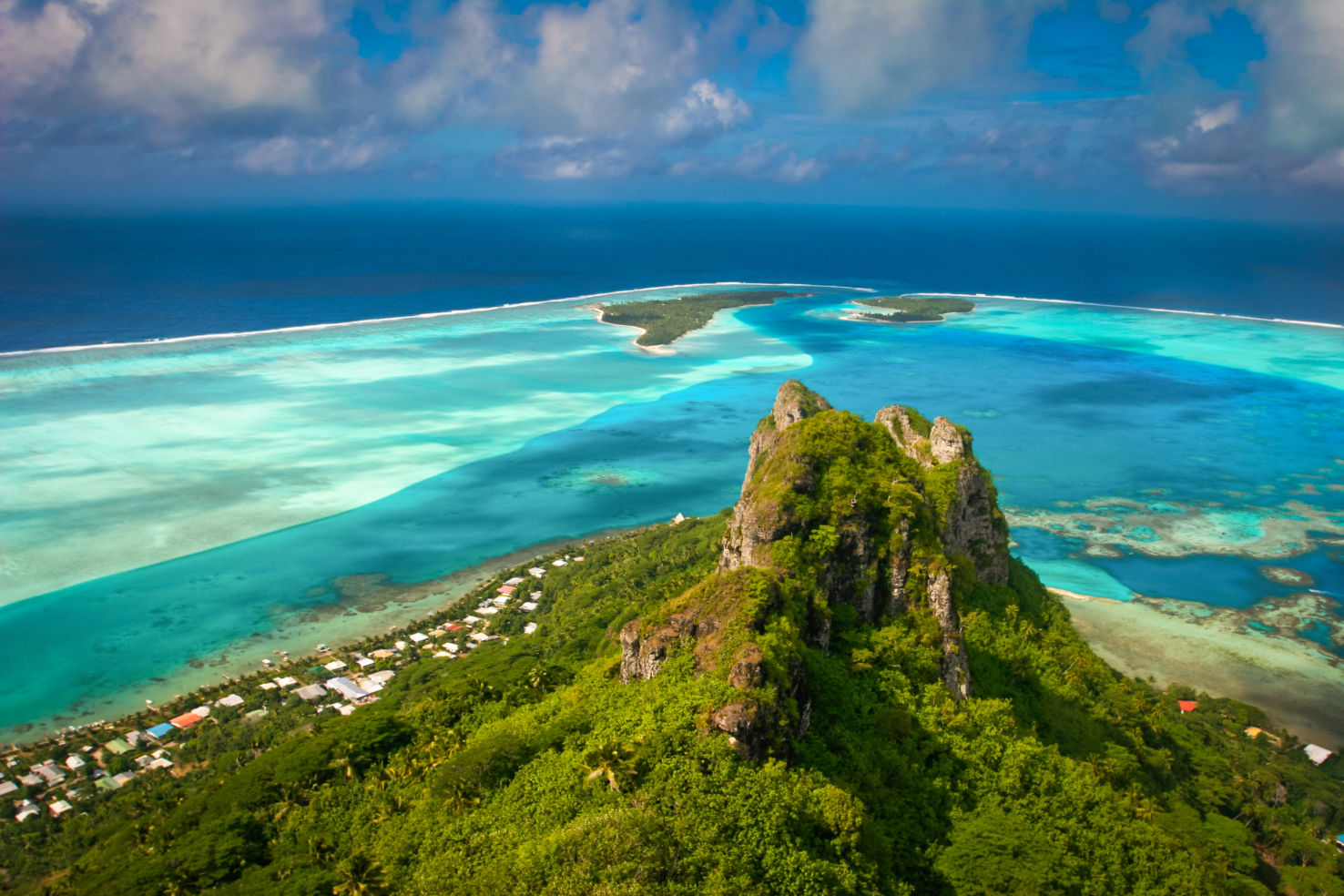 coral reef, Maupiti, French Polynesia