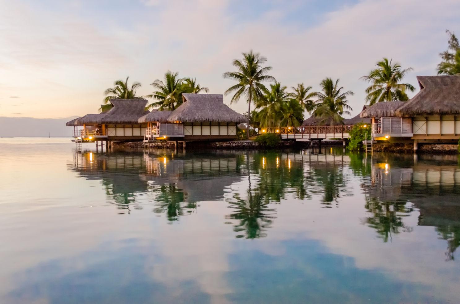 Overwater Bungalows, Moorea, French Polynesia