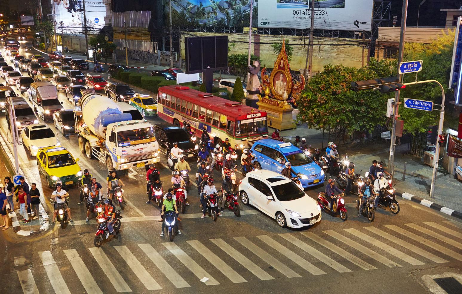 traffic jams, Bangkok, Thailand, Asia