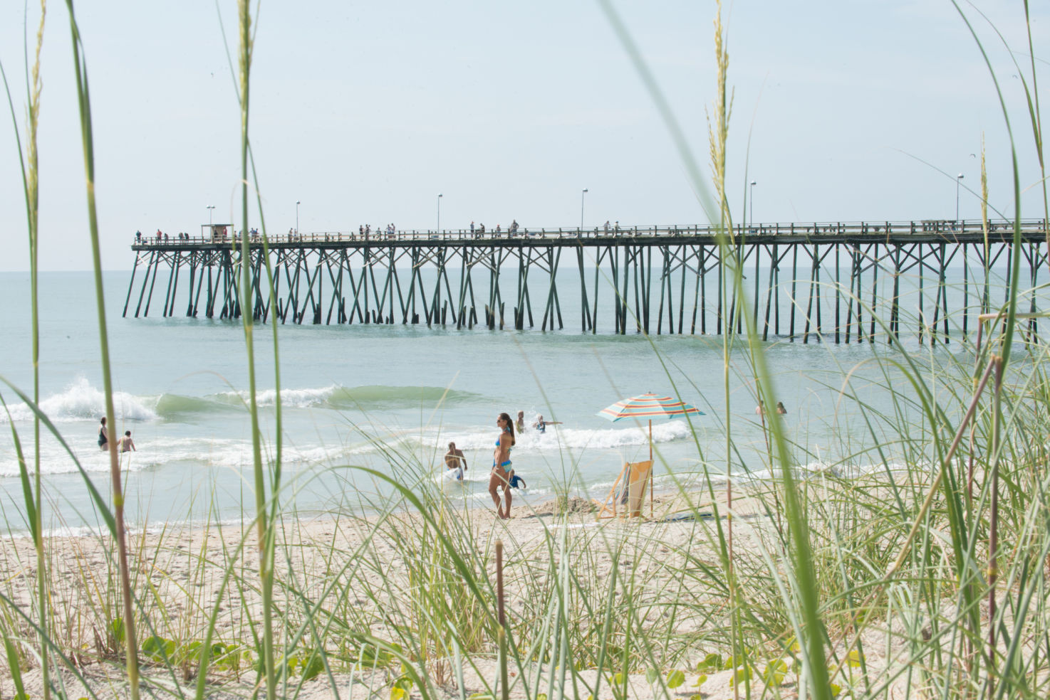 Kure Beach Pier, North Carolina.
