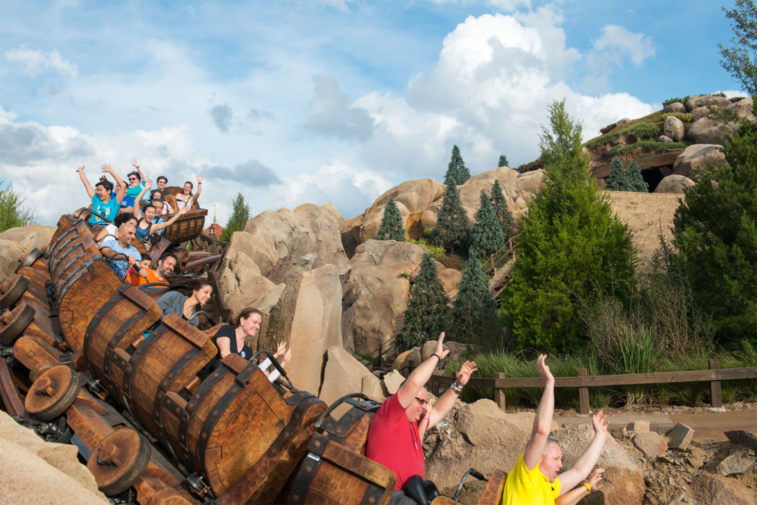 Seven Dwarfs Mine Train roller coaster, Disney World, Magic Kingdom