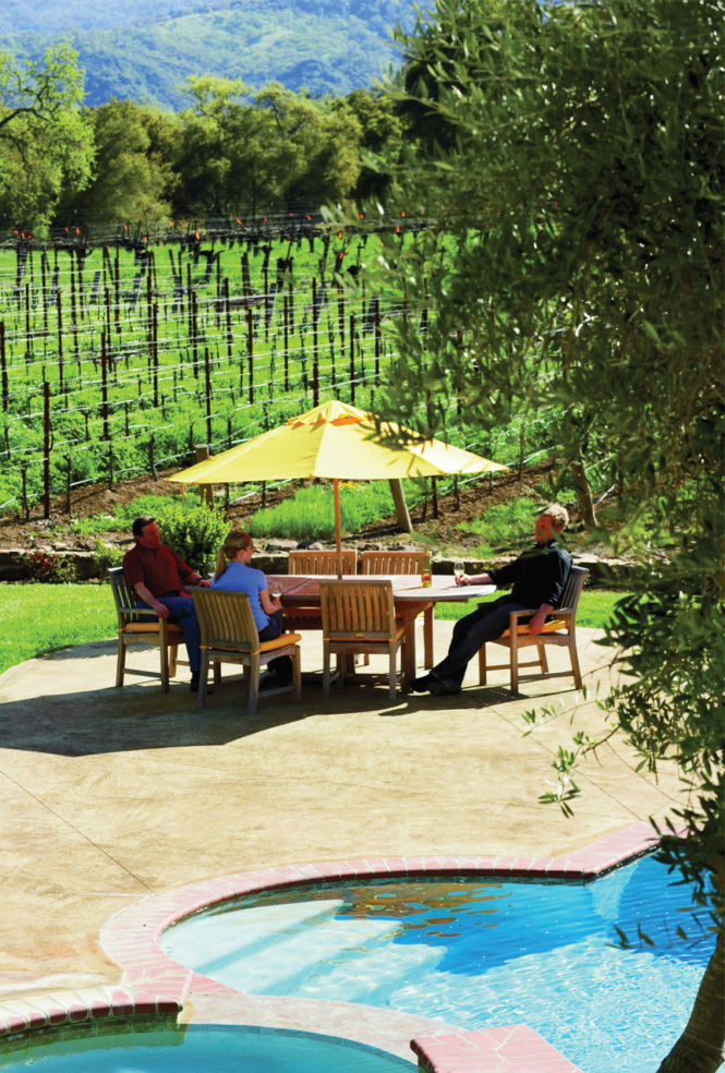 The patio at Justin Winery & VIneyards