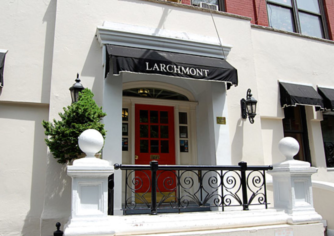 The exterior of The Larchmont.