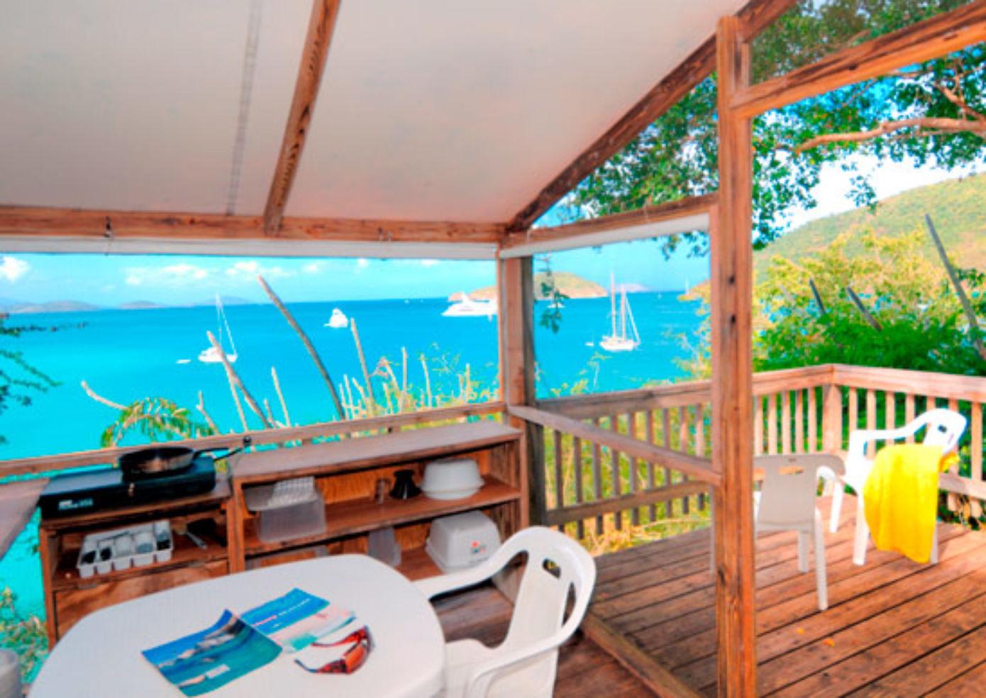 Maho Bay Camps, with views of the idyllic Maho Bay.