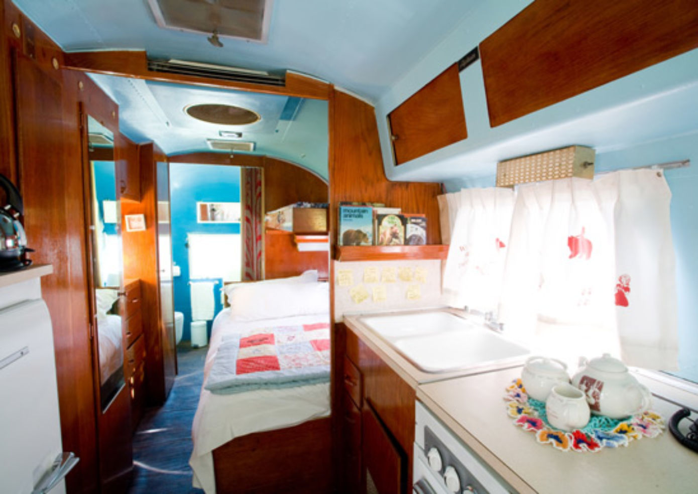 The Goldie Locks trailer at Airstream Penthouse Trailer Park