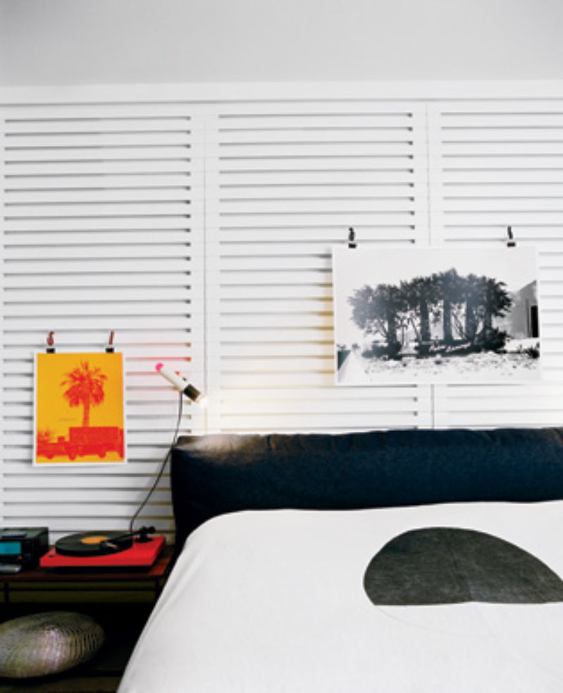 A room at the Ace with original silk-screen prints for sale