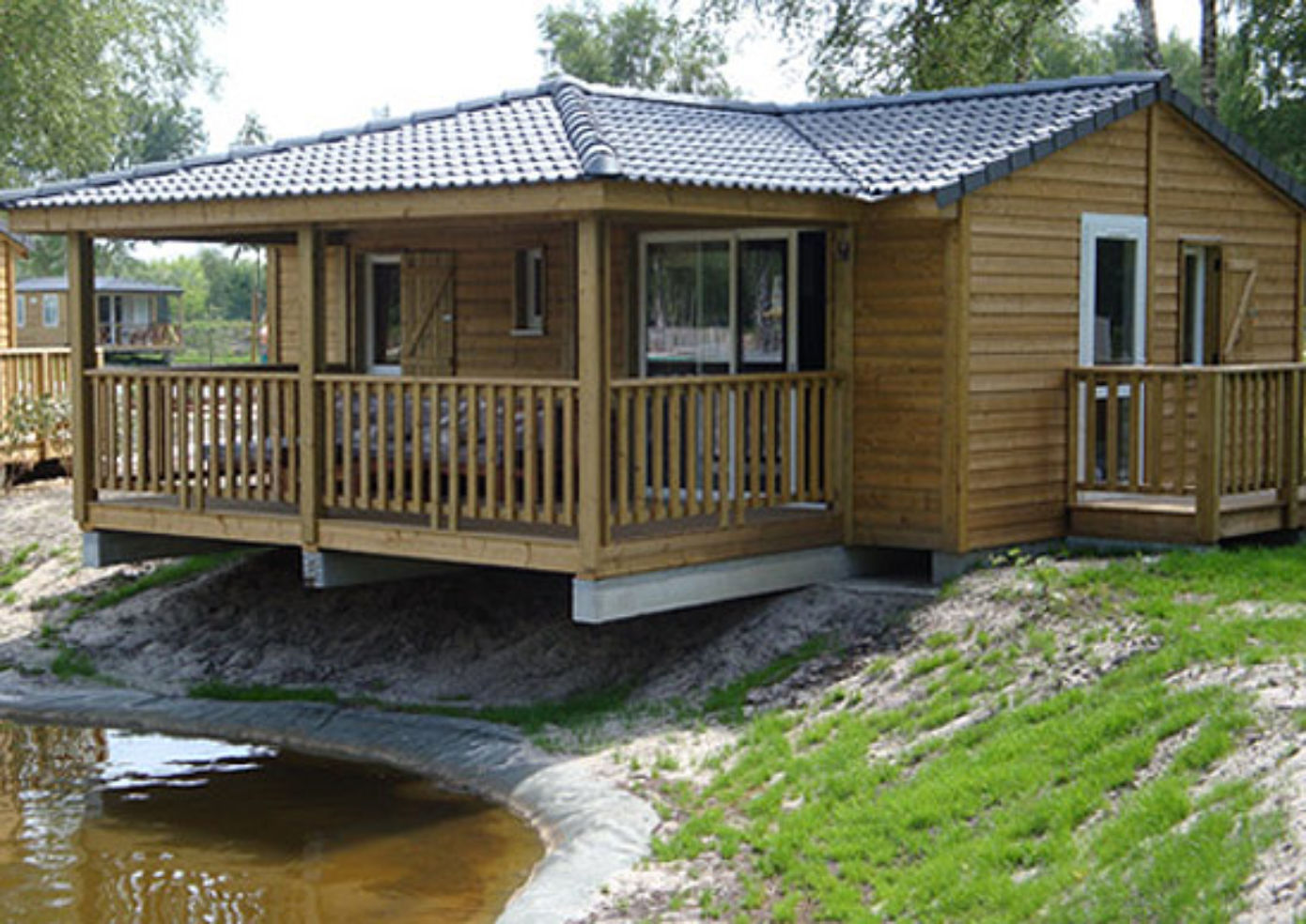 The Chalet Prestige at Camping de Bordeaux Lac in France