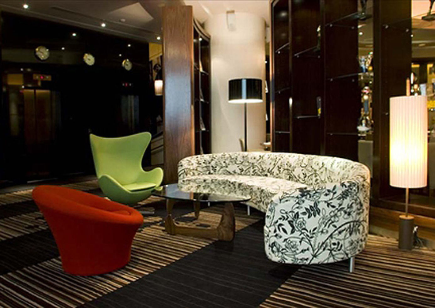 The reception area at Hard Days Night Hotel