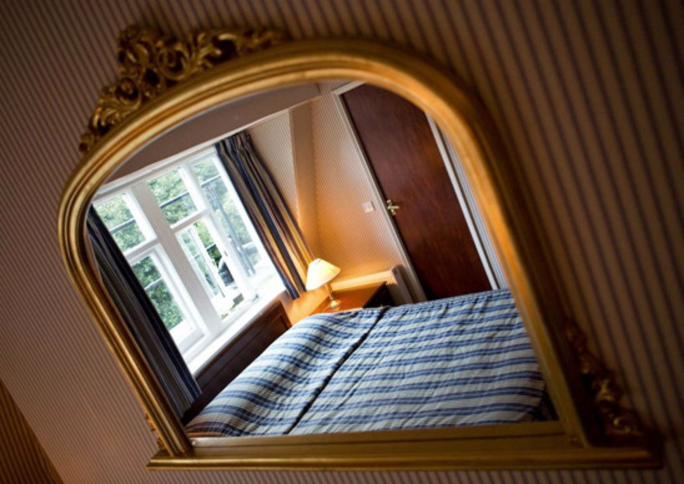 A guest room at Regency House Hotel