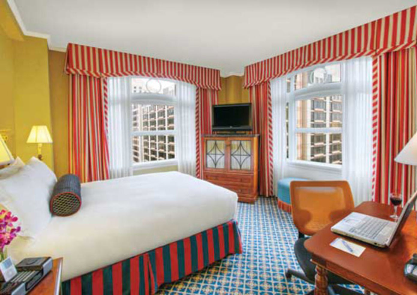 A room at Serrano Hotel in San Francisco