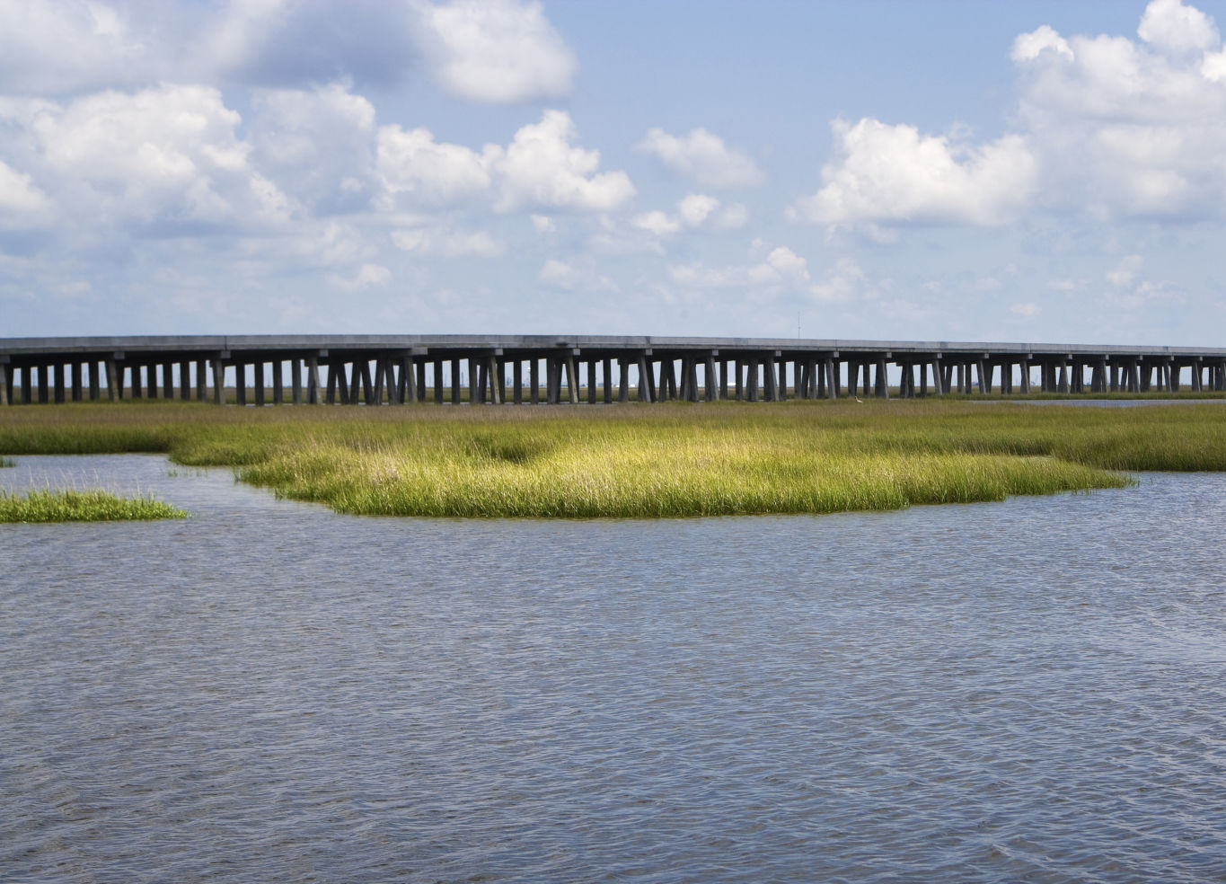 Marsh, Grand Isle Bridge, Louisiana's Gulf Coast