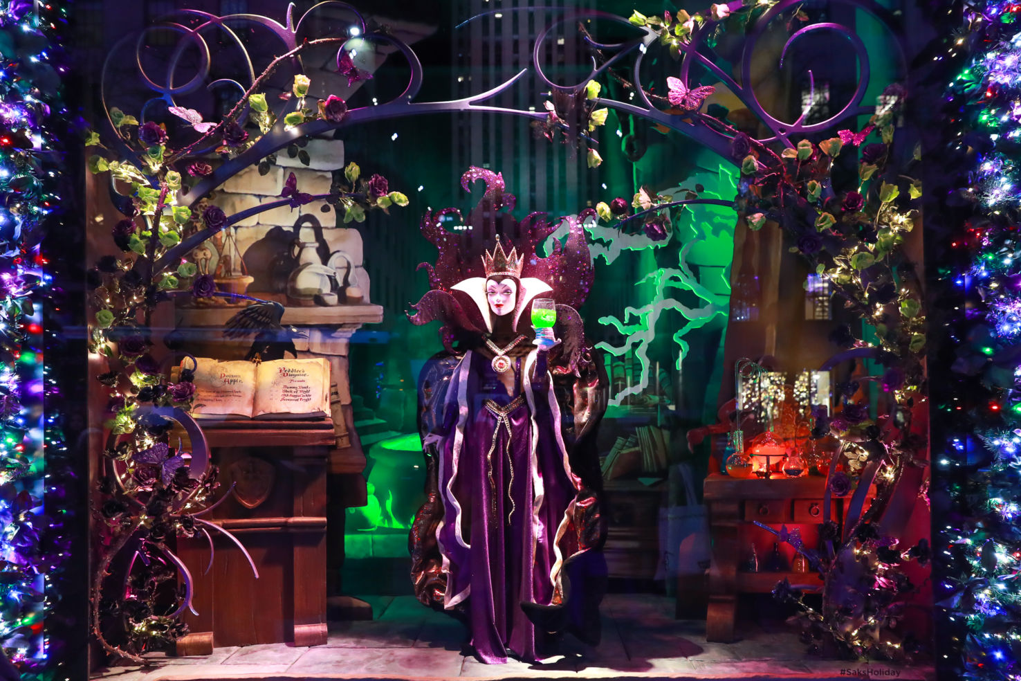 Evil Queen window at Saks