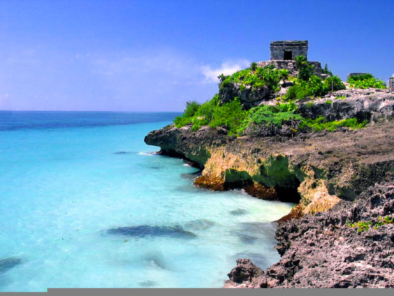 A beautiful beach scene in Tulum, Mexico