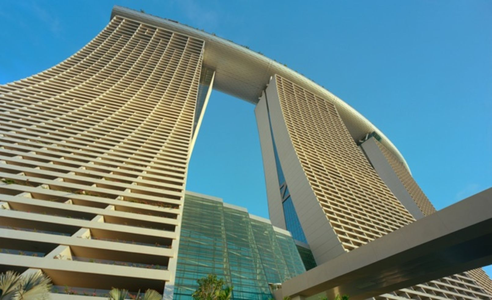 You won 39 t believe how cool these hotels look budget travel for Marina bay sands architecture concept