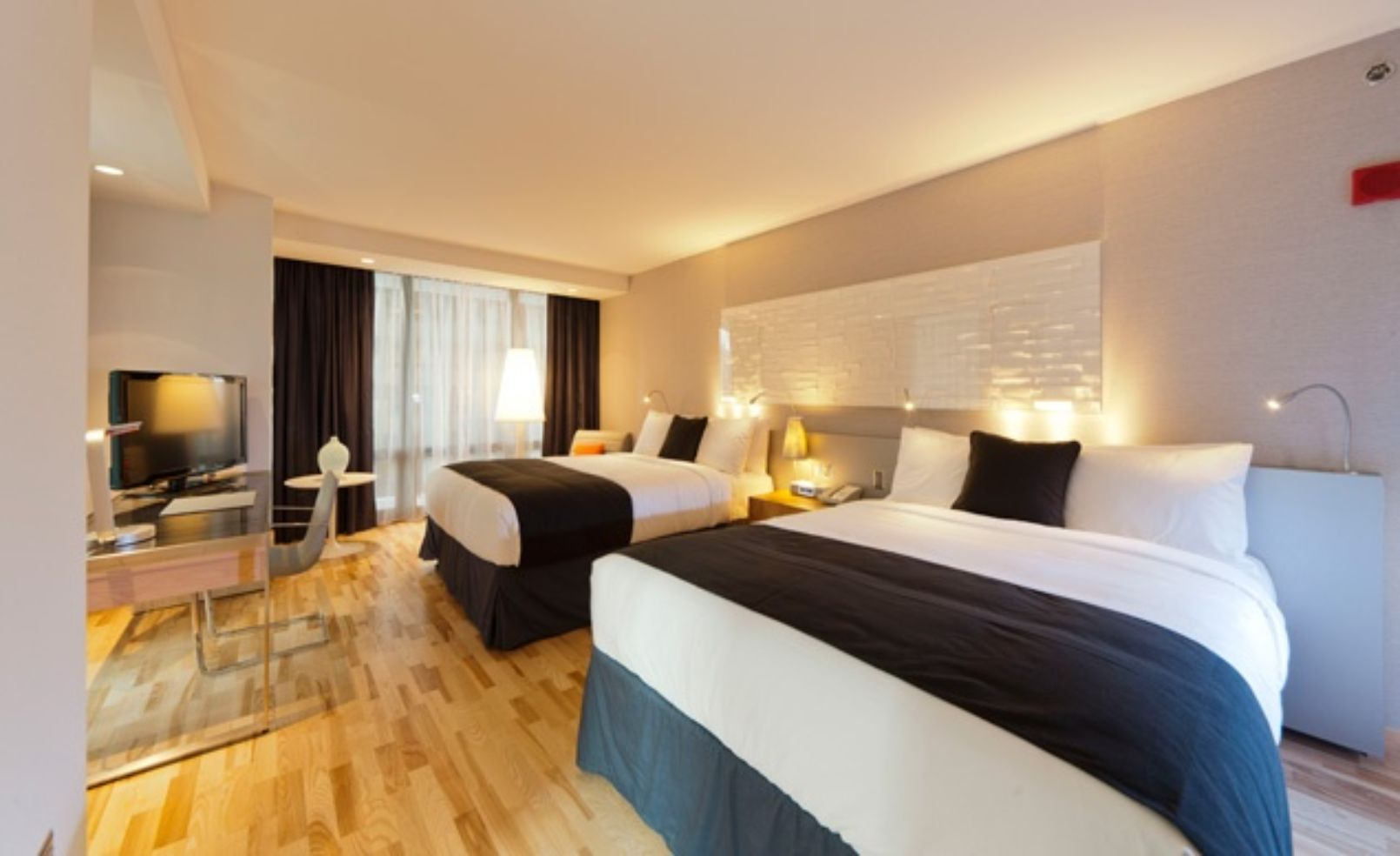 room at the Radisson Blu Aqua Hotel