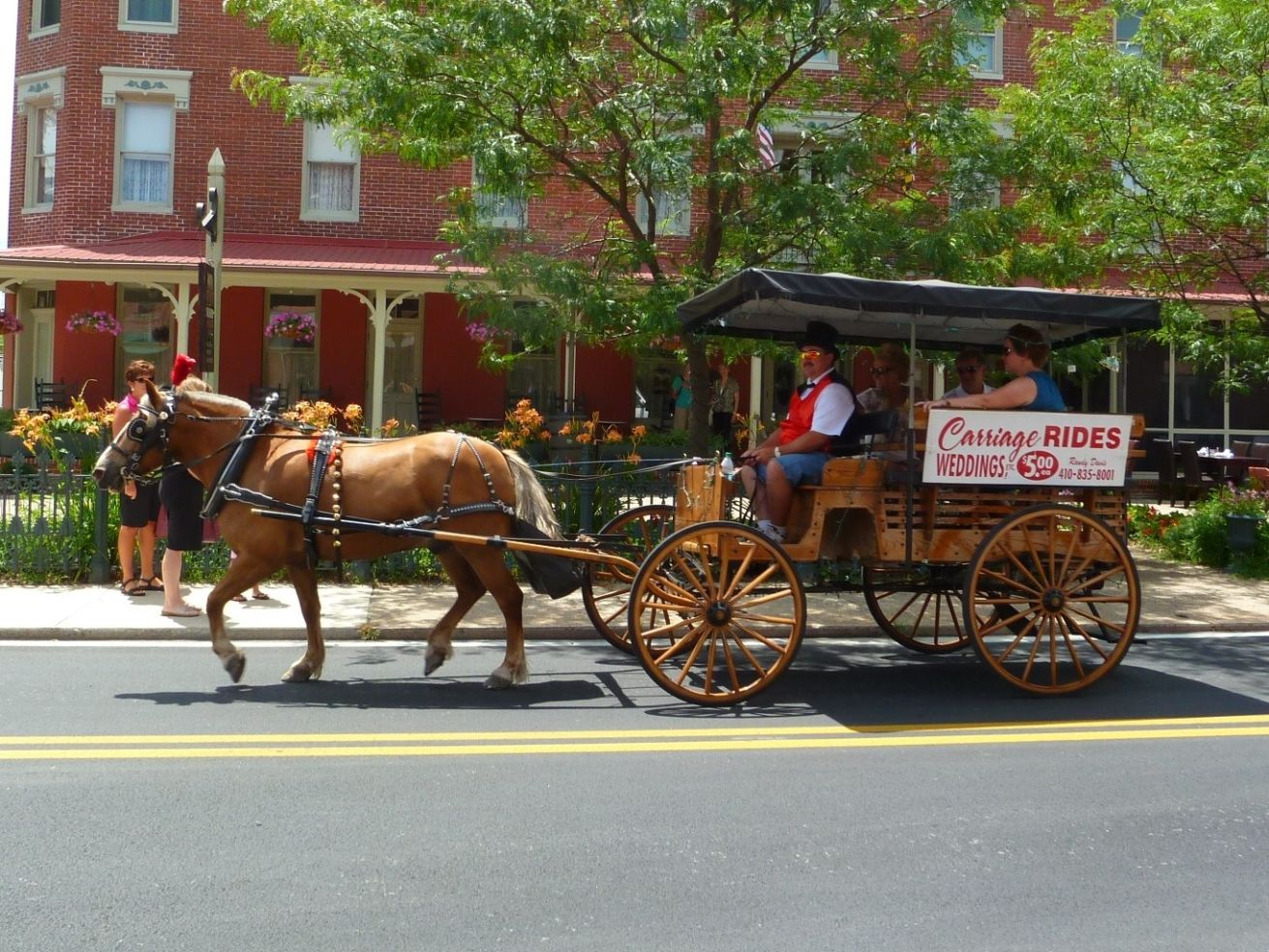 Berlin, Maryland offers horse and carriage rides