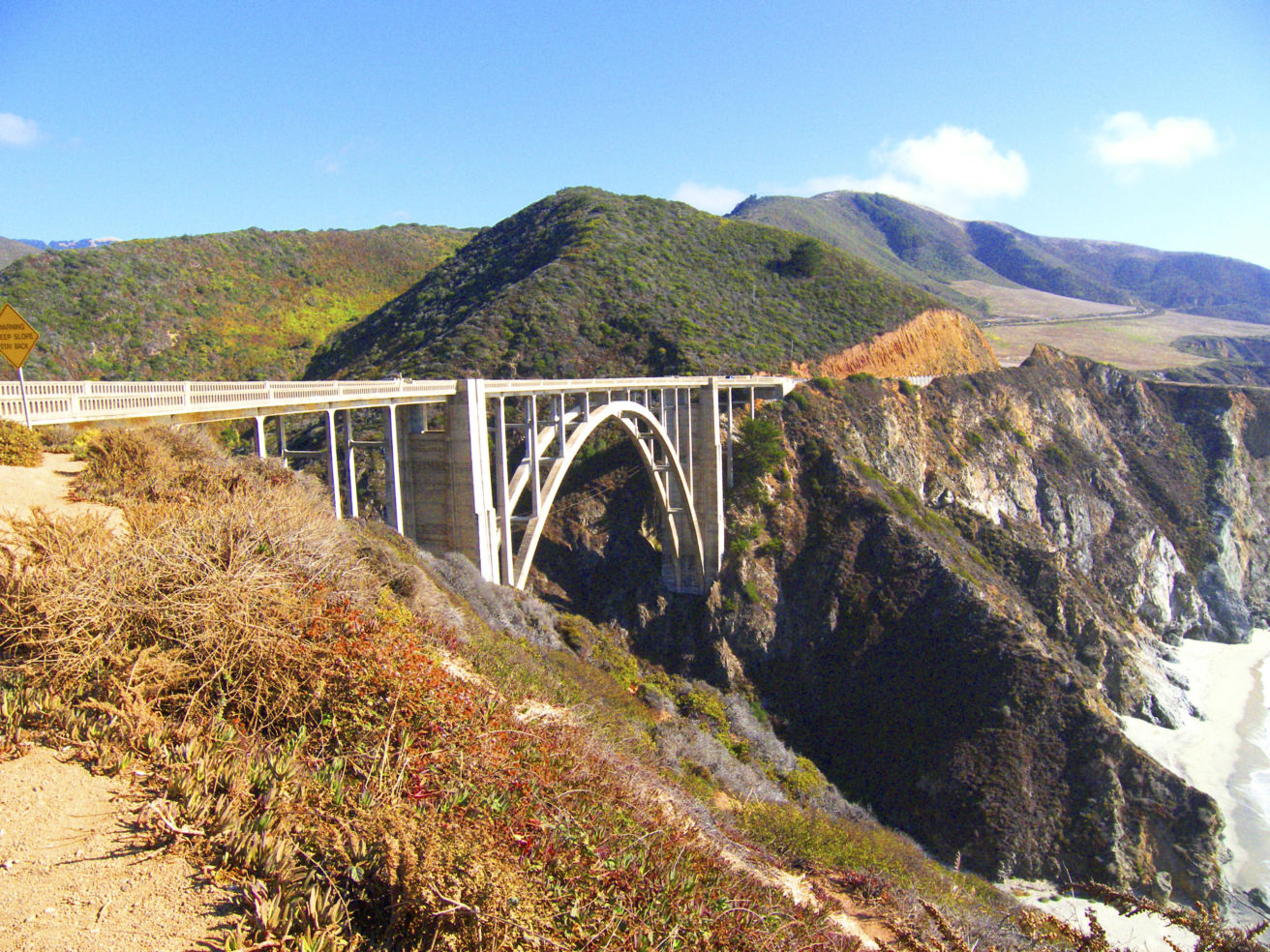 Bixby Bridge spanning Rainbow Canyon, Monterey Peninsula