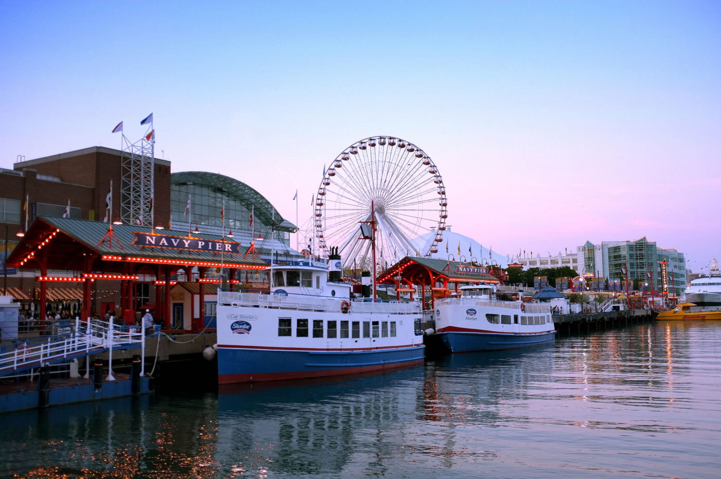 A view of Navy Pier Chicago