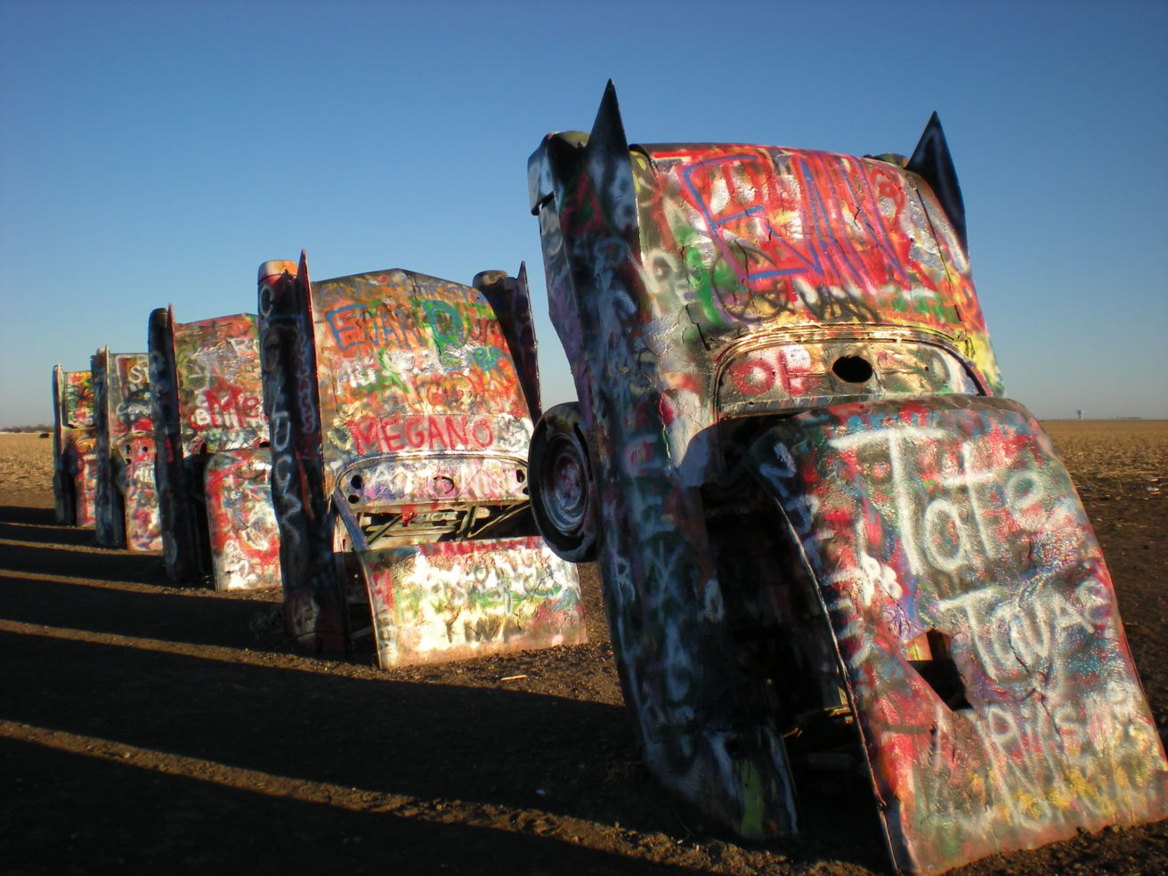 Cadillac Ranch in Amarillo Texas