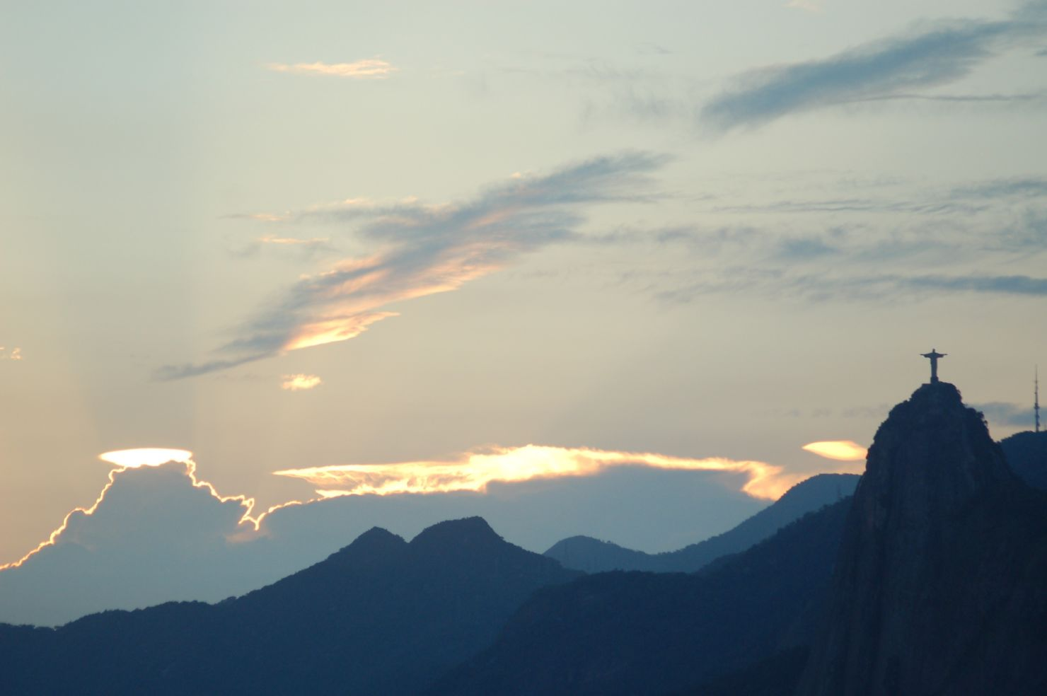 Christ the Redeemer statue at sunset
