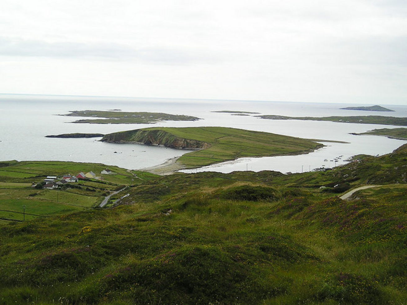 Green landscape in Clifden, on the west coast of Ireland