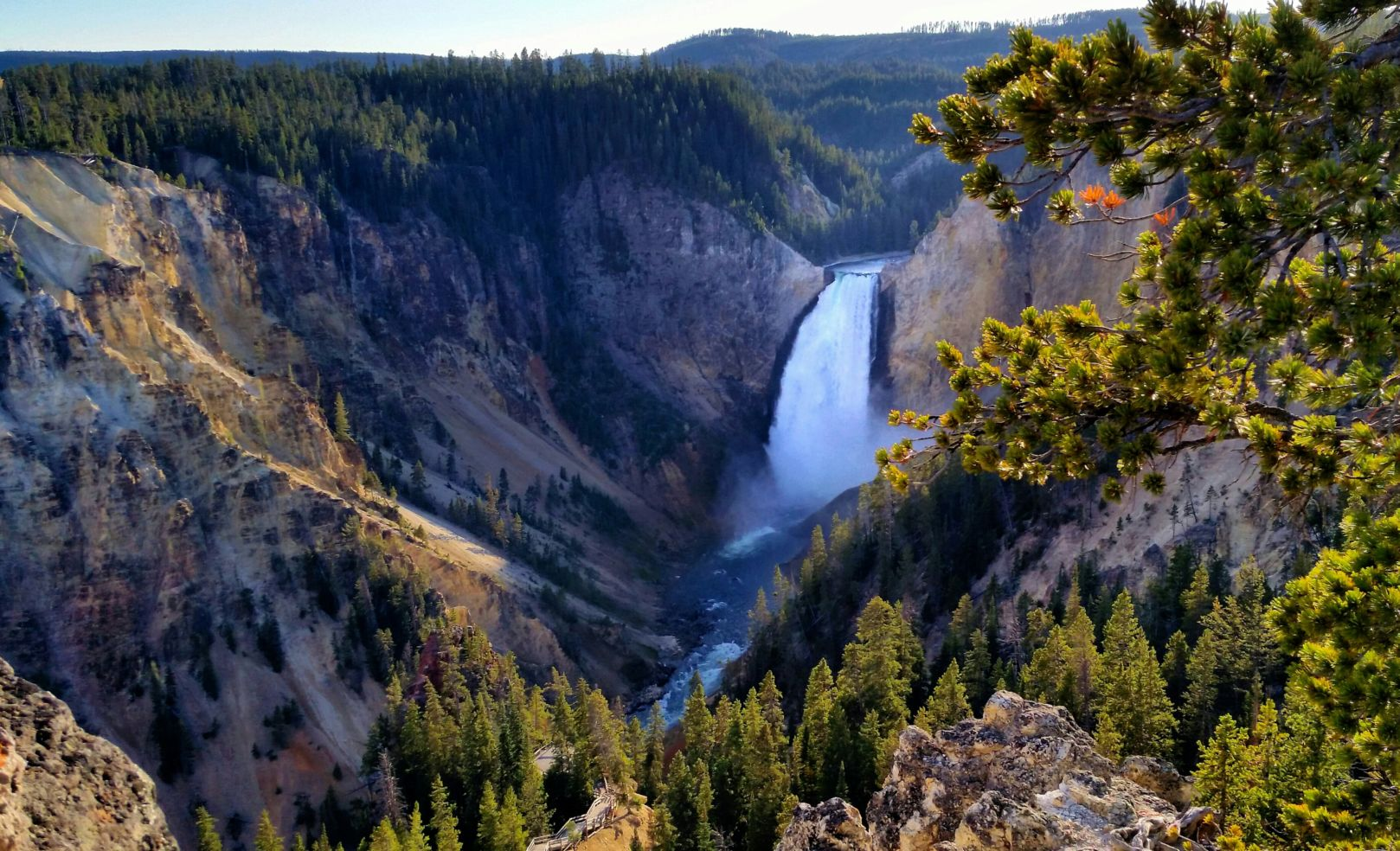 Yellowstone National Park, Wyoming, water fall