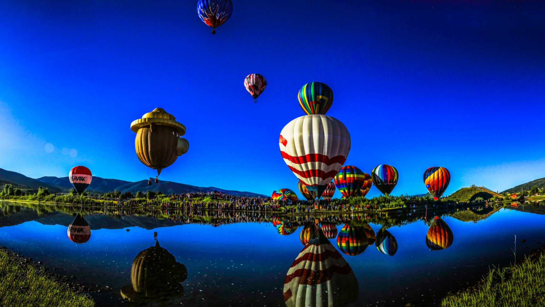 Annual Hot Air Balloon Rodeo in Steamboat Springs, Colorado