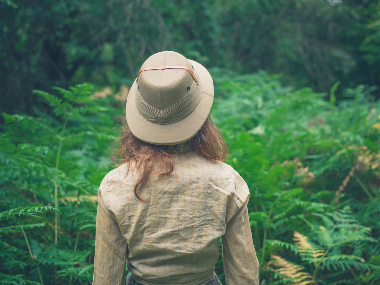 Woman in forrest