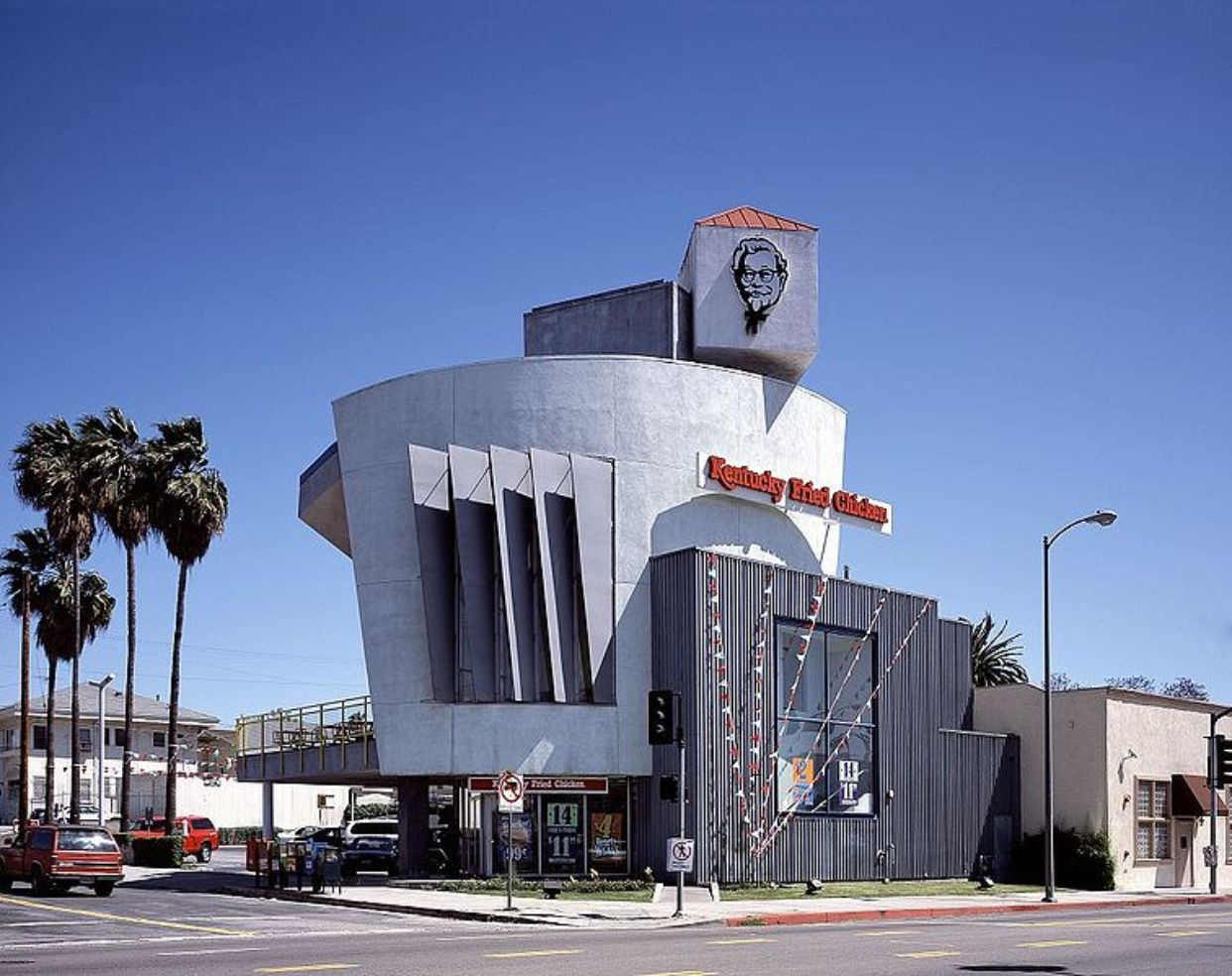 A futuristic Kentucky Friend Chicken in Los Angeles.