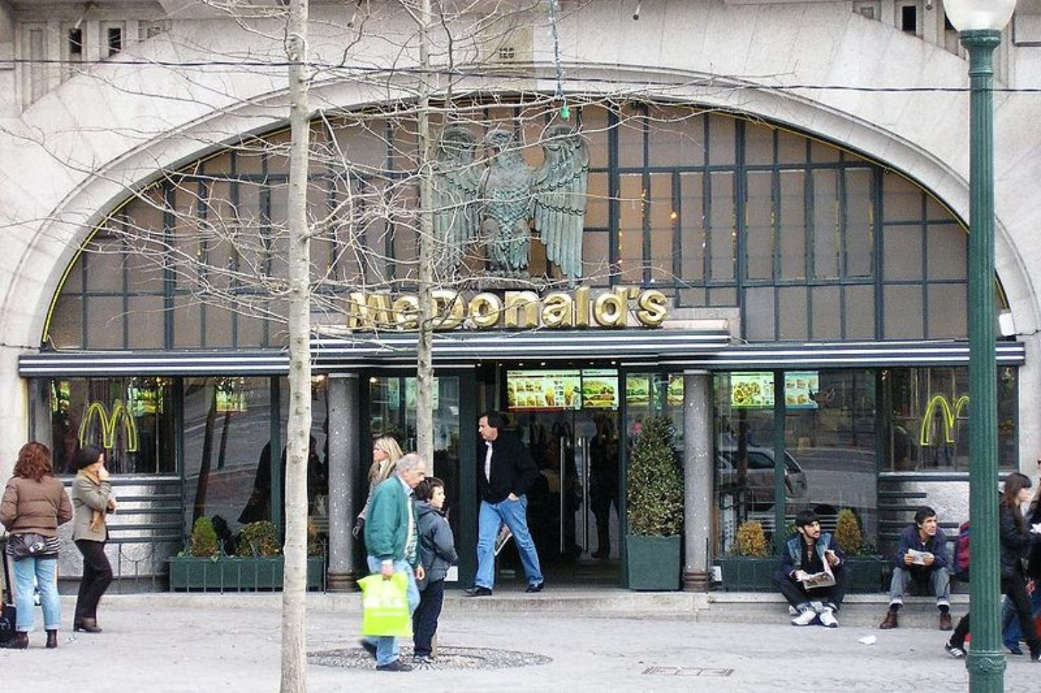 A fancy looking McDonald's in Porto, Portugal.