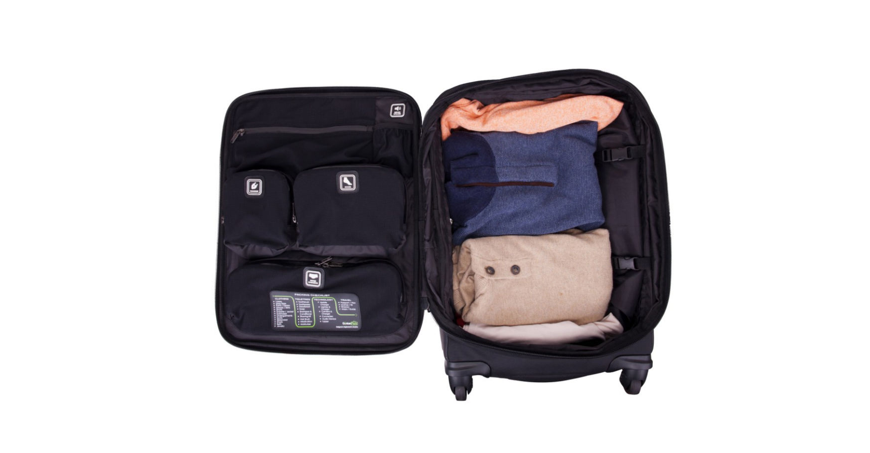 Genius Pack black suitcase