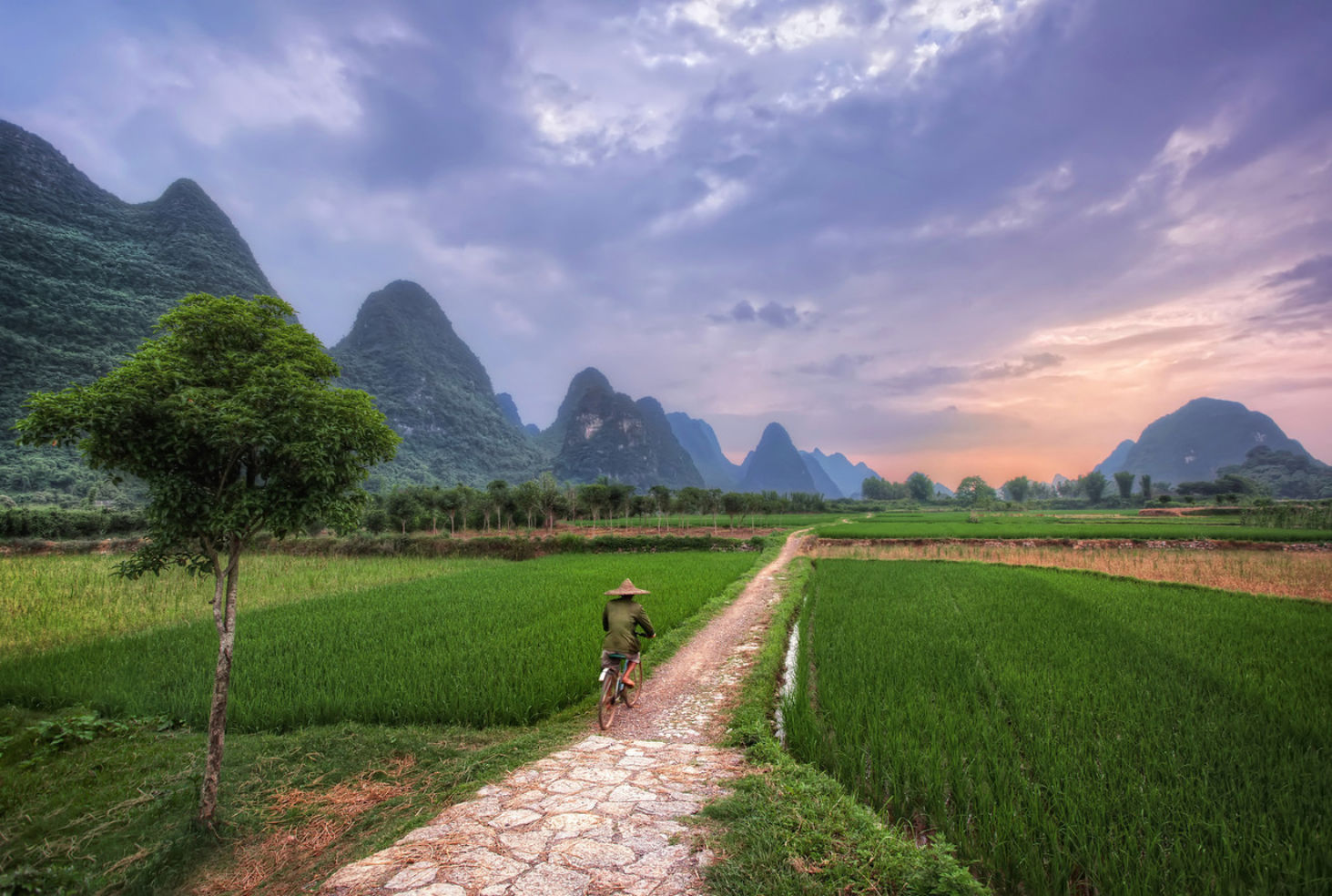 karst hills of Yangshuo in Southern China
