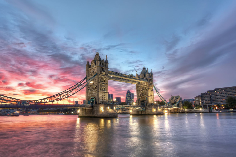 Sunset, Tower Bridge, London, England