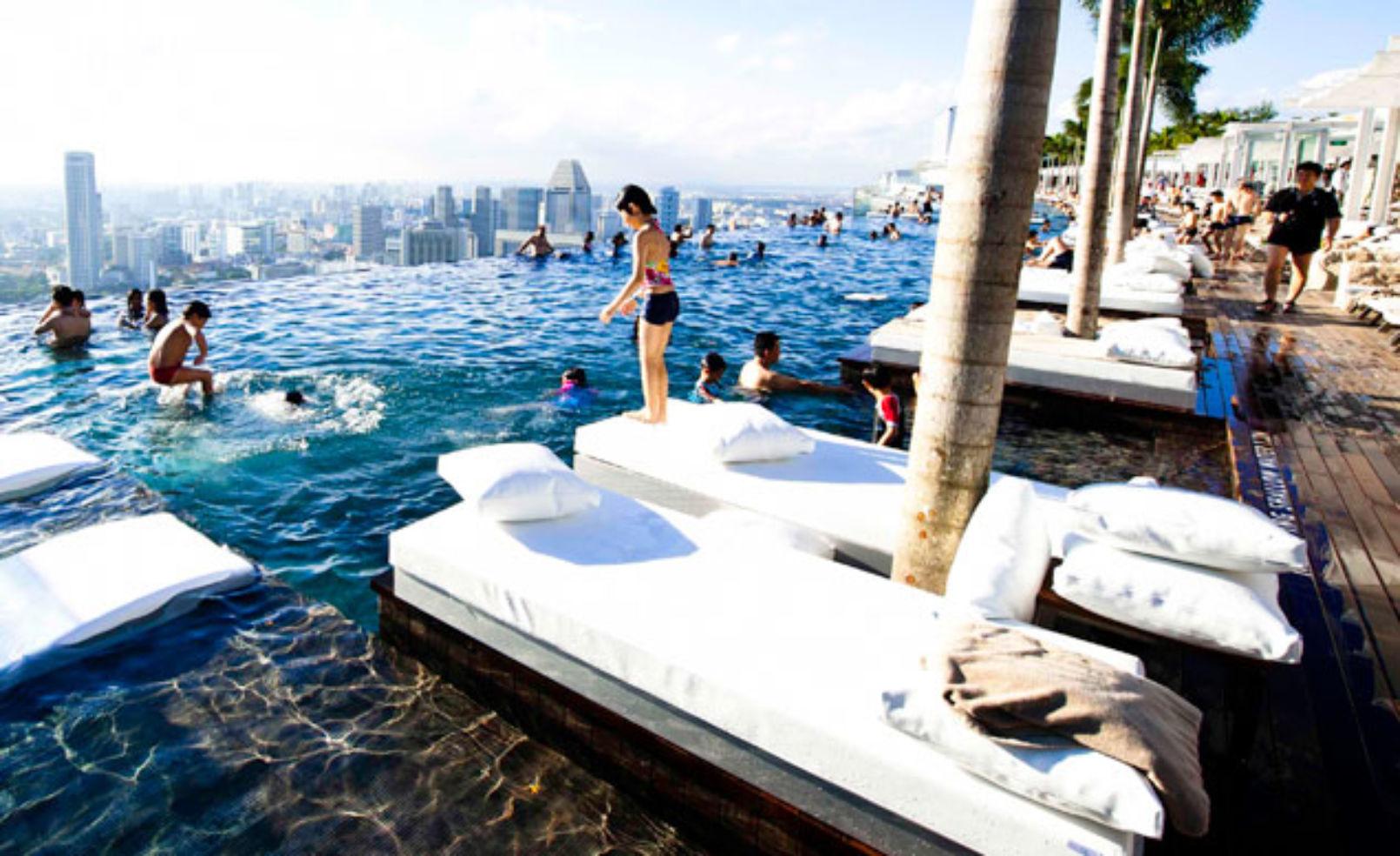 Marina Bay Sands poolchairs