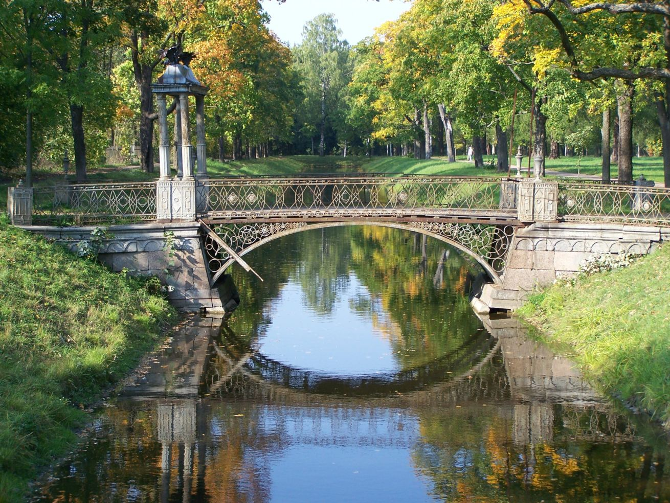 Iron Bridge in St. Petersburg, Russia