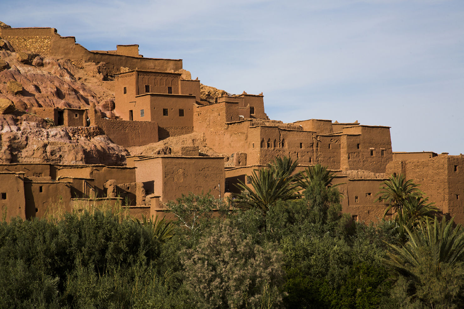 Ait Benhaddou is a UNESCO World Heritage site and the location of several biblical-themed films
